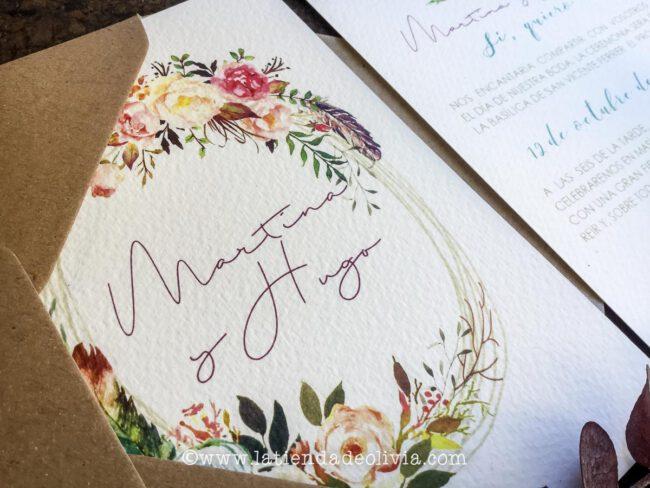 Tarjetas para bodas Pontevedra