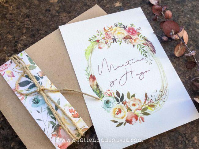 Invitaciones de boda elegantes, Huelva