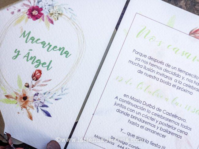 Invitaciones para bodas en Huesca