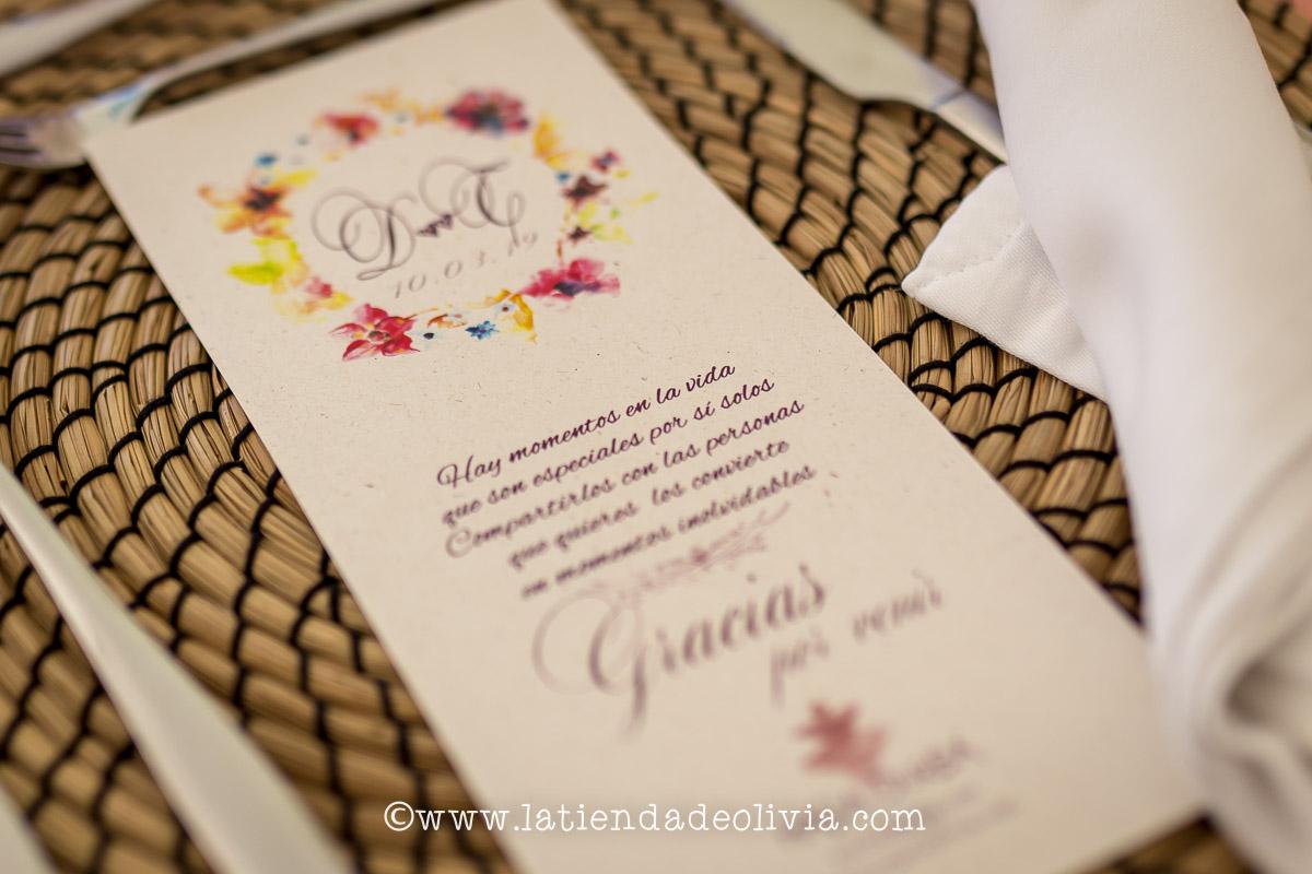 Invitaciones y MINUTAS de boda en Zamora