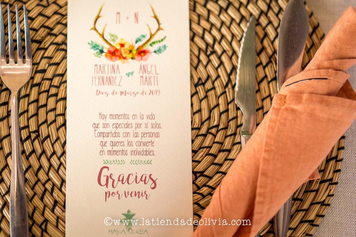 Invitaciones y MINUTAS de boda en Pontevedra
