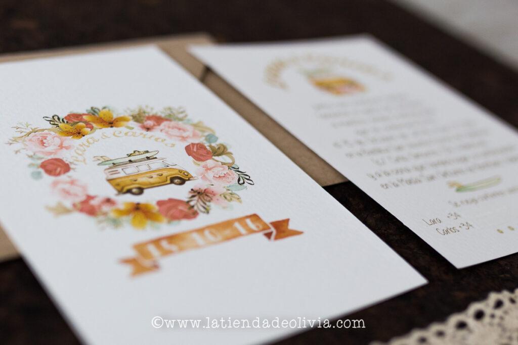 Invitaciones para bodas de viajes