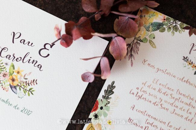 Invitaciones, tarjetas boda, Las Palmas de Gran Canaria