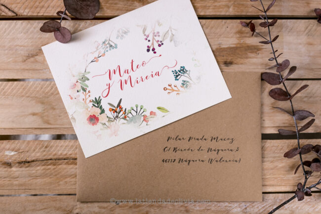 Invitaciones para bodas en Madrid