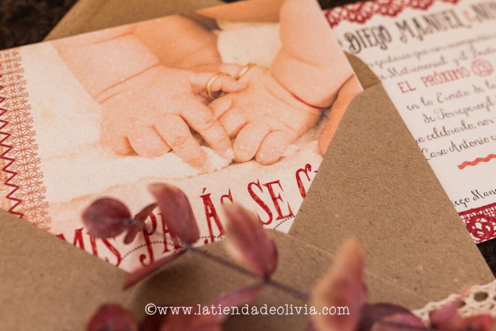 invitaciones de bodas con niños o hijos