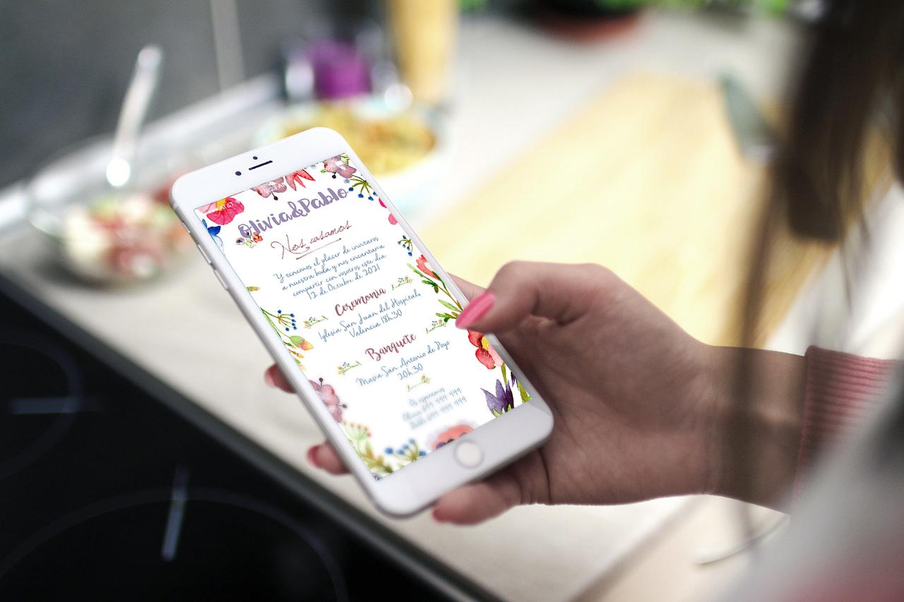 Invitaciones de bodas digitales