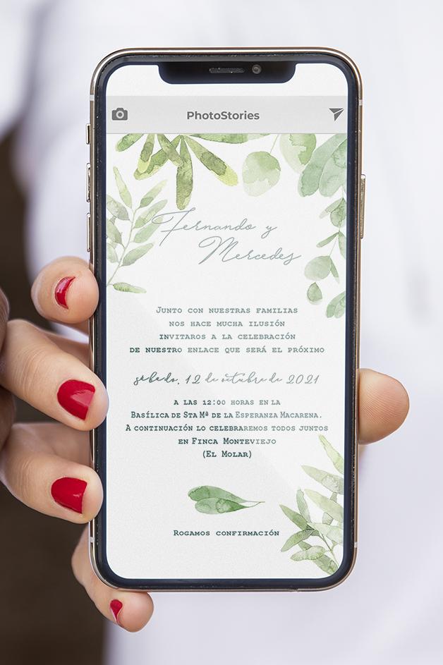 Invitaciones de boda digitales
