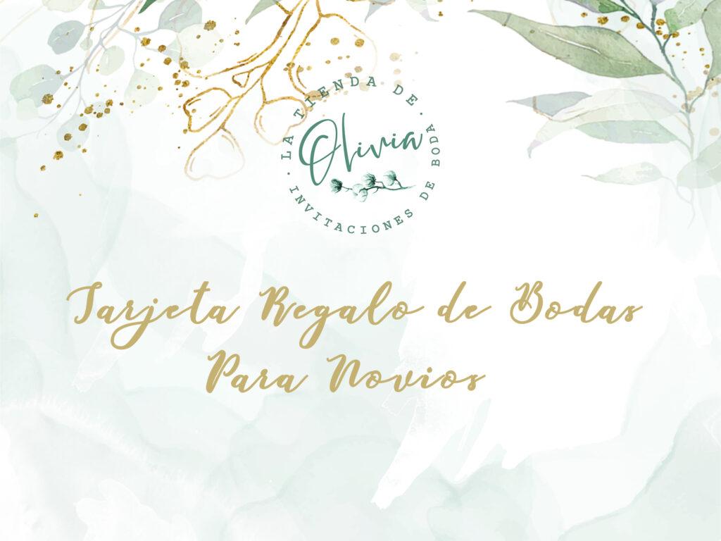 tarjeta regalo de bodas para novios
